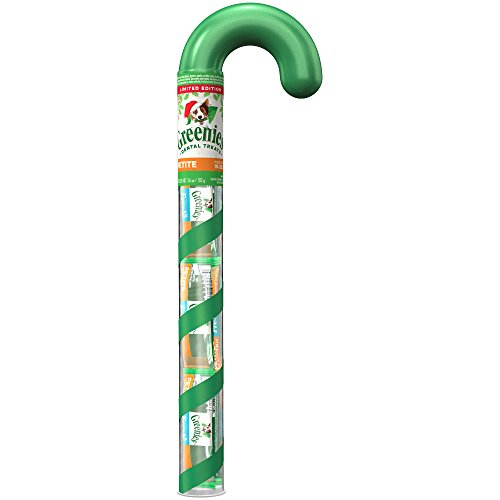GREENIES Dental Chews PETITE Treats for Dogs - Candy Cane Tube - 3.6 oz. 6 Treats (How Candy Canes Are Made)