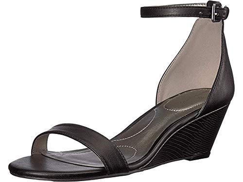 Bandolino Women's OMIRA Wedge Sandal, Black, 6.5 Medium ()