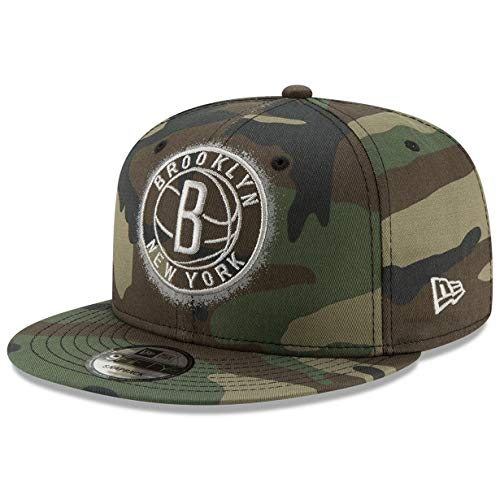 New Era Brooklyn Nets 9FIFTY Overspray Snapback Cap NBA, Hat Camo