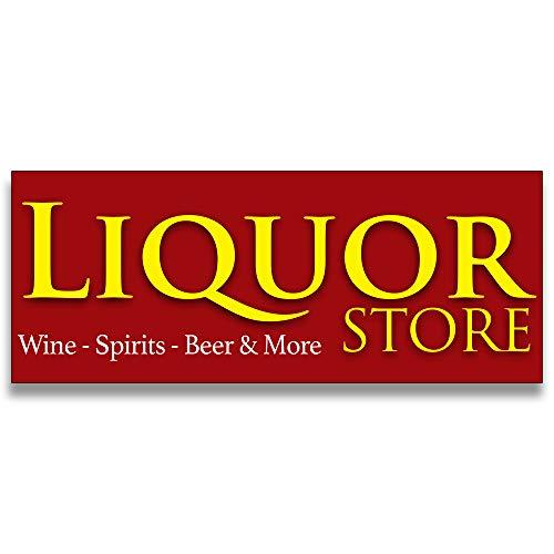 Liquor Store Vinyl Banner 5 Feet Wide by 2 Feet Tall