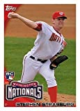2010 Topps Baseball Card #661 Stephen Strasburg RC - Washington Nationals (Rookie Card - Phenom) HOBBY FACTORY SET VERSION