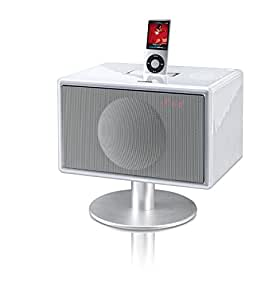 Geneva Sound System Model S HiFi System for iPod/iPhone with FM Radio & Alarm (White) (Discontinued by Manufacturer)