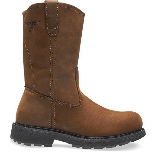"Wolverine Slip Resistant Steel-Toe EH 10"" Wellington Work Boot Men 12"