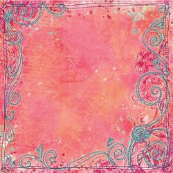 PRIMA FLOWERS Art-Stitched Mulberry Paper 12-Inch by 12-Inch, Precious Art Stitched Mulberry Paper