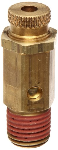 (Control Devices NC Series Brass Non-Code Safety Valve, 25-200 psi Adjustable Pressure Range, 1/4