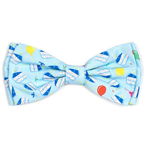 The Worthy Dog Happy Birthday Boy Pattern Designer Bow Tie for Pet Dog Cat 21958-4234SM ()