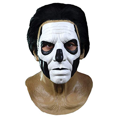 Ghost Papa III Standard Full Head Mask, Brown Black White, One-Size -