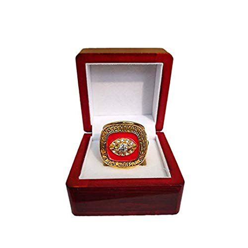 Nine Culture Replica Championship Ring for 1969 Kansas City Chiefs Gift Fashion Gorgeous Collectible Ring Super Bowl Wooden Box(Size8-13) (9)