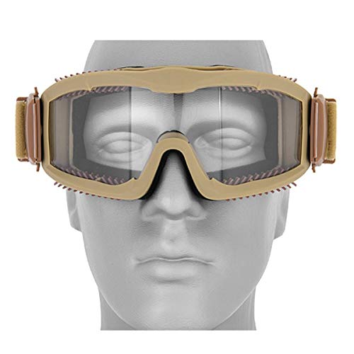 ical Airsoft Vented Safety Goggles Glasses Eye Wear Googles TAN ()