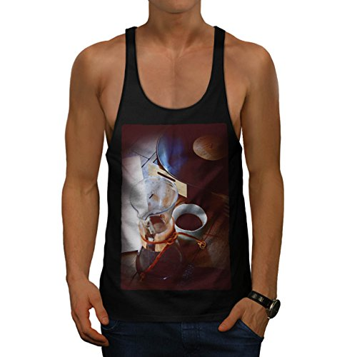 Cup Of Coffee Old Vinyl Player Men S Gym Tank Top | Wellcoda