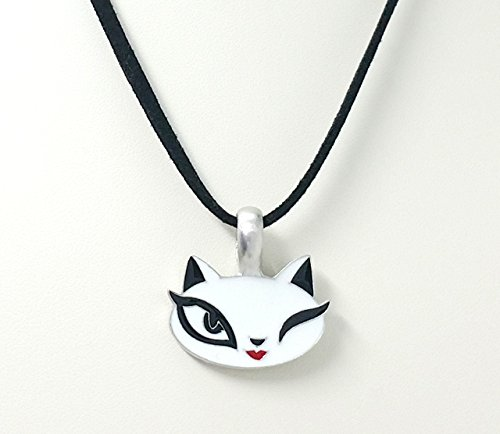 Winking Kitty Cat Pet Necklace