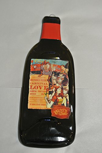 Enchanted Path Mollydooker Carnival of Love Shiraz, McLaren Vale, Australia Melted Wine Bottle Cheese Serving Tray - Wine Gifts ()