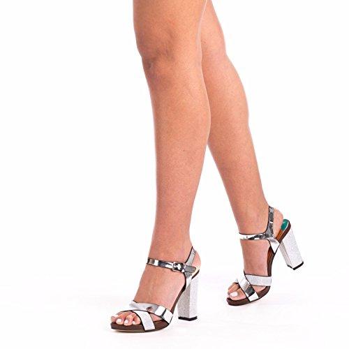 SnobUK - Zapatos de tacón  mujer plata