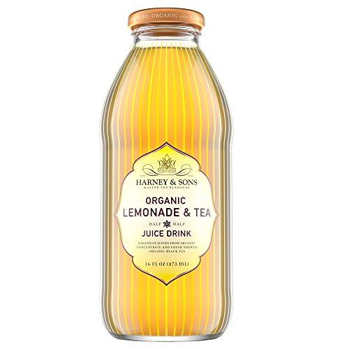 Harney & Sons Iced Tea, Organic Lemonade & Tea, 16 Ounce (Pack of 12)