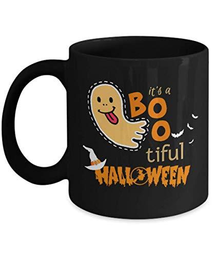 Funny Halloween Gift Mug It's A BooTiful Halloween Themed Coffee Mug Black Perfect Gift Idea for Dad Mom Son -
