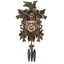 River City Clocks One Day Hand-carved Musical Cuckoo Clock with Dancers and Animated Birds - 16 Inches Tall by River City Clocks