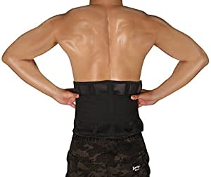 BULESK Back Support Belt, Lumbar Support Belt Dual Adjustable Straps, Breathable Mesh Panels, Helps Relieve Lower Back Pain, Scoliosis, Herniated Disc, Lifting, Sciatica for Men and Women
