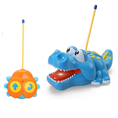 Holy-Stone-Cartoon-Crocodile-RC-Car-with-Music-and-Lights-Electric-Radio-Control-Toy-for-Baby-Toddlers-Kids-Children