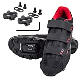 tommaso Terra 100 Women's Indoor Cycling Ready, MTB, Road Shoe with Compatible SPD Cleat - Black/Red - 39