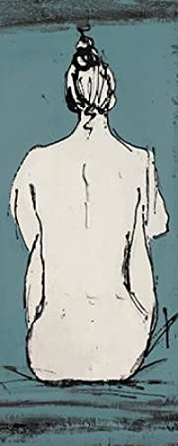 Nude Sketch on Blue II Poster Print by Patricia Pinto (10 x 20)