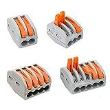Lever-Nut,Wire Connector,Assortment Pack Conductor Compact Wire Connectors, (PCT-212(40 PCS) PCT-213(40 PCS) PCT-214(20 PCS) PCT-215(20 PCS) 120PCS)