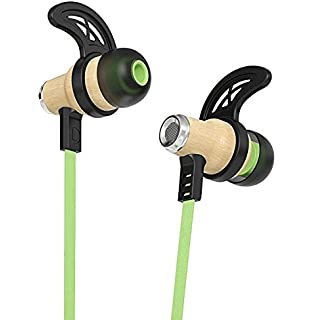 8bf952f3959d1d Symphonized NRG Bluetooth Wireless Wood in-Ear Noise-isolating Headphones,  Earbuds, Earphones