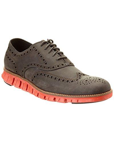 Cole Haan Mens Zerogrand Wing Oxford Pavement Leather / Orange Piccante