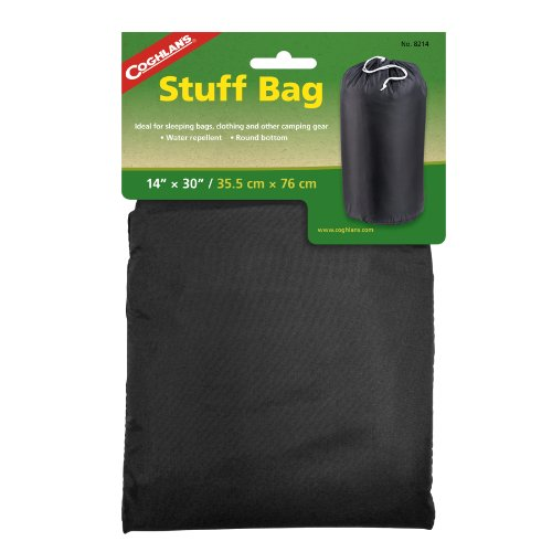 Coghlan's Water Repellant Utility Stuff Bag, 14 x 30-Inches, Assorted Colors