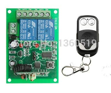 DC 12v 10A wireless RF Remote Control Switch Transmitter+Receiver 315MHZ 433MHZ