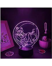 Sailor Moon Holografische Projector 3d Licht Gadget Moon Sailor Slaapkamer Verlichting Usb Lamp Nachtkastje Droom Kleur Nachtlampje Led Optische Illusies Touch Bureau Jongens Verjaardagscadeautjes
