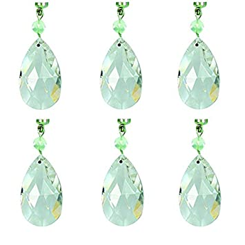 MagTrim Set 6 Magnetic Chandelier Crystals – 1.5 Clear Crystal Almond – Replacement Chandelier Crystals, Prism Pendants, Hanging Crystals for Chandeliers,Crystal Prisms,Crystal Beads Parts