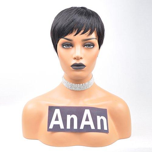 Yviann 100% Human Hair Wigs Short Straight