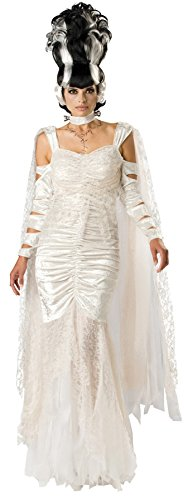GTH Women's Monsters Frankensteins Bride Elite Fancy Halloween Costume, X-Large (16-18) (Deluxe Frankenstein Mask)
