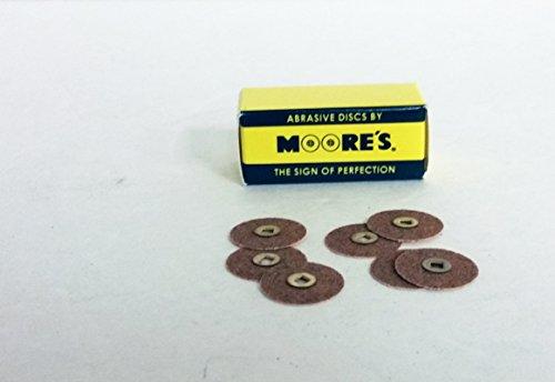Garnet Center - Moores BC-34-GM Paper Brass Center Abrasive Discs - Garnet, Medium, 3/4 50/pk