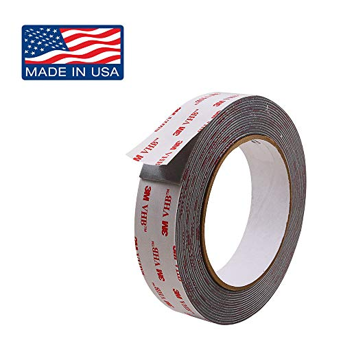 Outdoor Double Sided Tape Heavy Duty: Strong Adhesive Mounting Tape Foam Roll, 1 in x 8 ft by Volarium