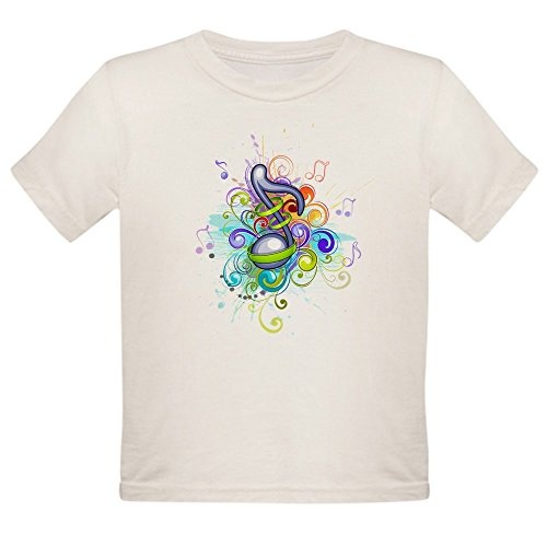 Royal Lion Organic Toddler T-Shirt Musician Music Note Colorful HD - 4T