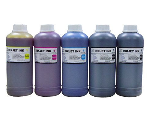 ND R@ 5X500ML refill ink kit for Epson 664 T664 7874 T774 : Expression ET-2500 ET-2550 ET-2600 ET-2650 WorkForce ET-16500 ET-4500 ET-4550 (Kit Refill Epson)