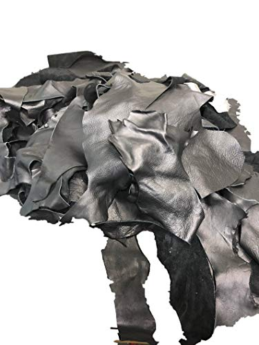 - The Tannery NYC Black Full Grain Leather Scraps and Trimmings: 1.5-2lbs of Scrap Include Fashion Colors, Metallics, Prints, Embossed Leathers (USPS Padded Pouch)