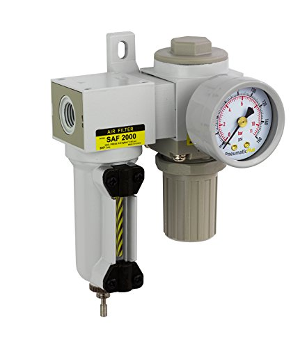 Mini Filter Regulator - PneumaticPlus SAU2020M-N02G-MEP Mini Compressed Air Filter Regulator Combo 1/4