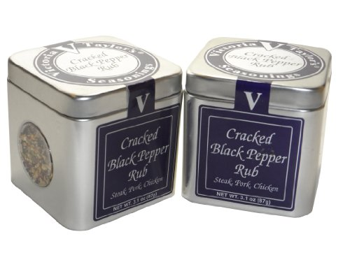Victoria Taylor's Cracked Black Pepper Rub 3.1 Oz (Pack of ()