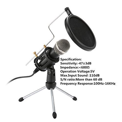 Amazon Com Condenser Microphonenasum 3 5mm Recording Microphone