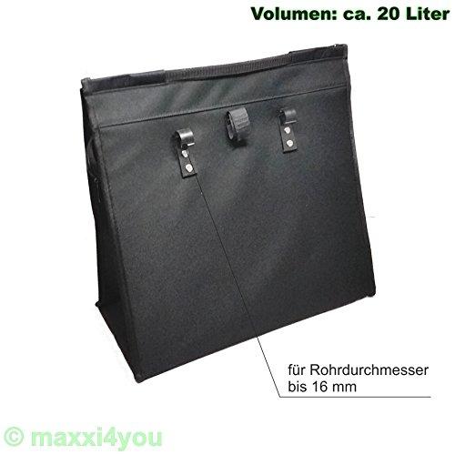 01170425SV-16 Fahrrad Gepäckträgertasche Seitentasche Tasche rot Punkte 16 mm