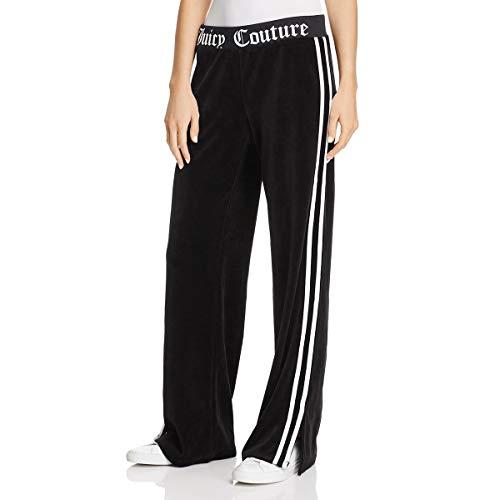 Juicy Couture Black Label Womens Velour Wide Leg Pants Black Size ()