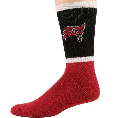 Reebok NFL Tampa Bay Buccaneers Black-Red Crew Socks (10/13) ()