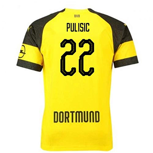 c2b57e5a4fc Borussia Dortmund #22 Christian Pulisic Mens Home Soccer Jersey 2018-2019  Season Yellow (XL)