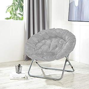 Urban Shop Oversized Micromink Moon Chair, Grey