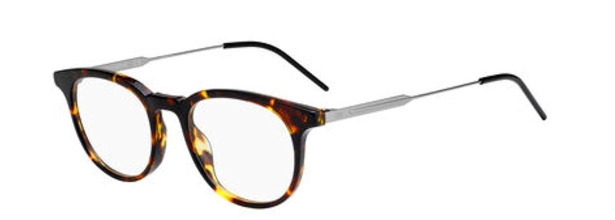 8d04629e1a73 Amazon.com  New Christian Dior Homme Black Tie 229 86 Dark Havana Eye Wear  Eye Glasses  Clothing