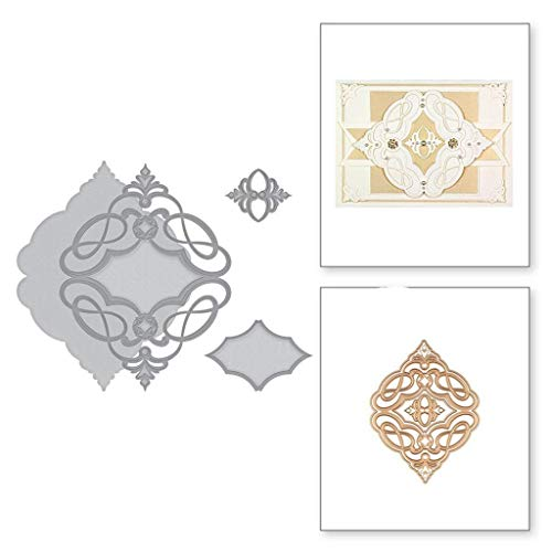 Uqiangy Cutting Dies Scrapbooking Metal Die Stencil Paper Card Craft for Sizzix Big Shot/Other Machines(E,113x147mm)