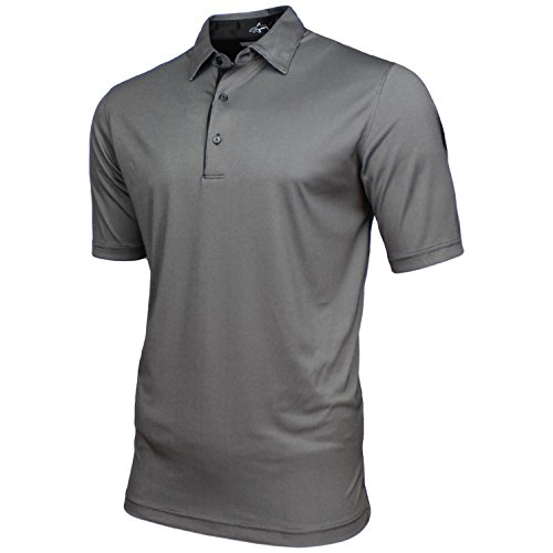 - Greg Norman Mens Technical Performance Play Dry Golf Polo (Large, Black)