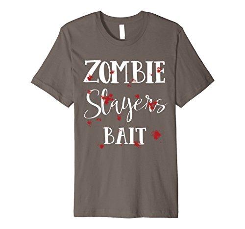 Zombie Slayer Costume Men (Mens Halloween Costume Zombie Slayers Bloody T-Shirt 2XL Asphalt)